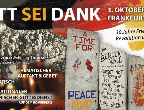 Gott sei Dank – Veranstaltungen zum 3. Oktober 2019 in Frankfurt